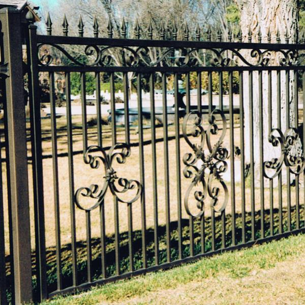 Black Wrought Iron Fence Installation Fencing Baldwin County Alabama